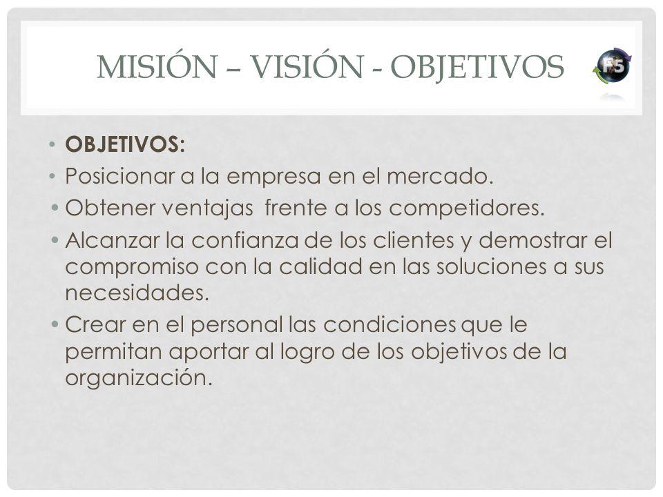 Misión – Visión - Objetivos