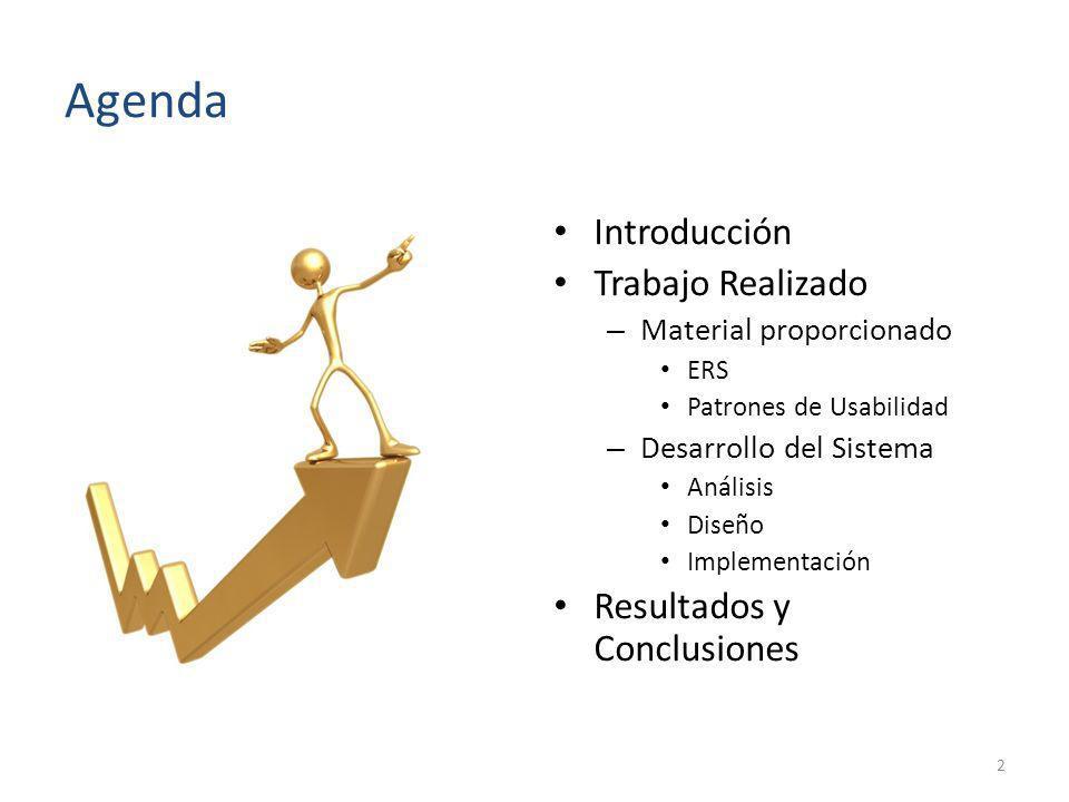 Agenda Introducción Trabajo Realizado Resultados y Conclusiones