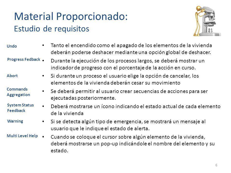 Material Proporcionado: Estudio de requisitos