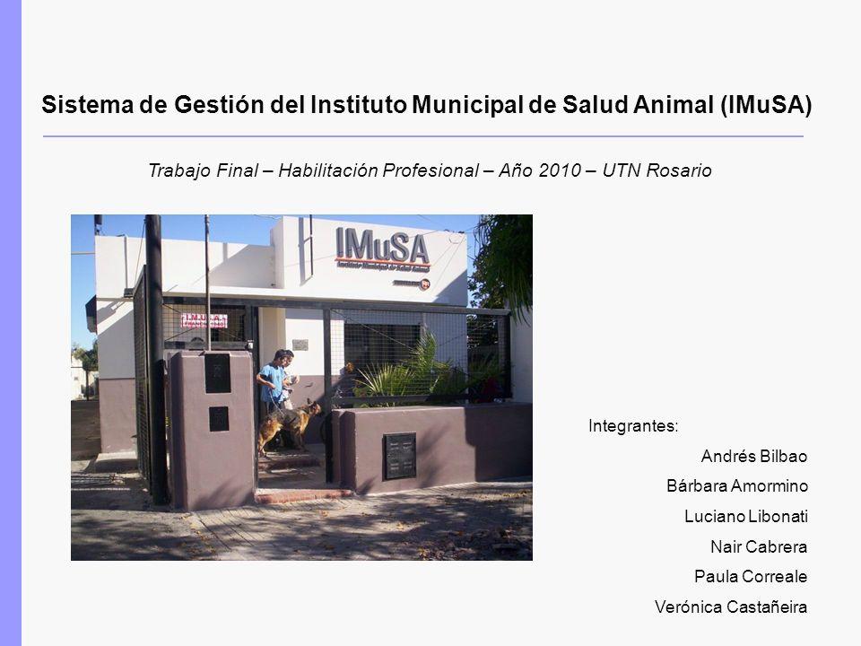Sistema de Gestión del Instituto Municipal de Salud Animal (IMuSA)
