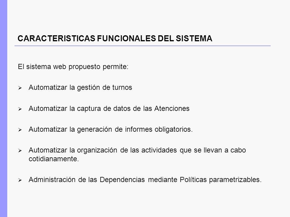 CARACTERISTICAS FUNCIONALES DEL SISTEMA