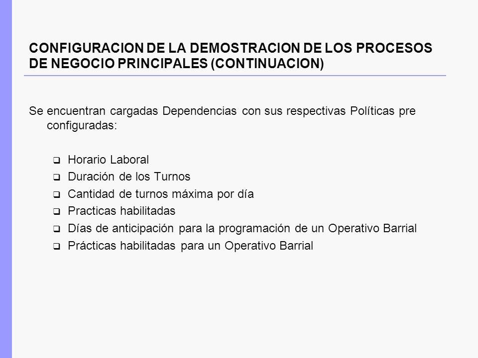 HP 2010 CONFIGURACION DE LA DEMOSTRACION DE LOS PROCESOS DE NEGOCIO PRINCIPALES (CONTINUACION)