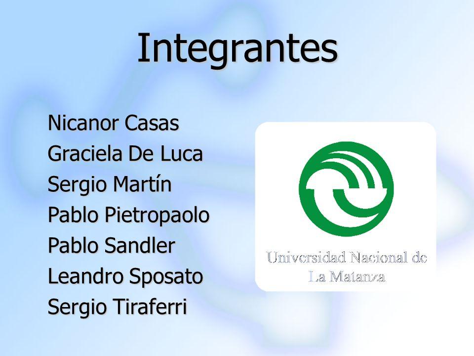 Integrantes Nicanor Casas Graciela De Luca Sergio Martín