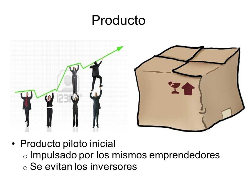 Producto Producto piloto inicial