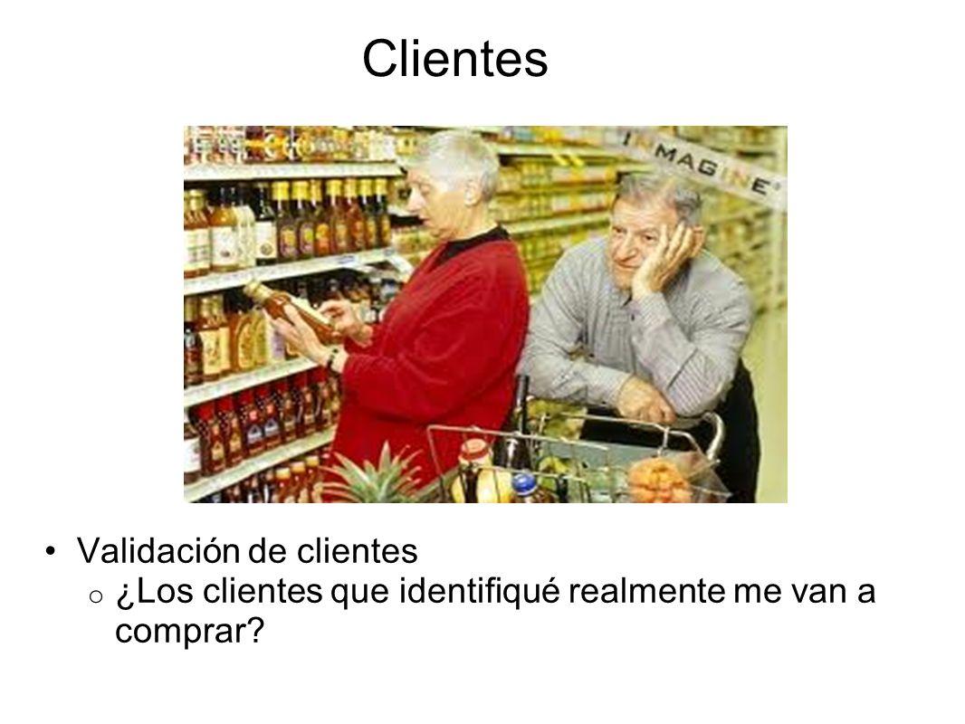 Clientes Validación de clientes