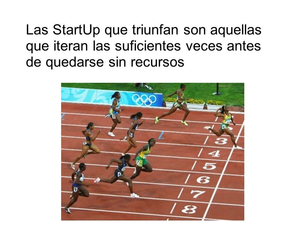 Las StartUp que triunfan son aquellas que iteran las suficientes veces antes de quedarse sin recursos