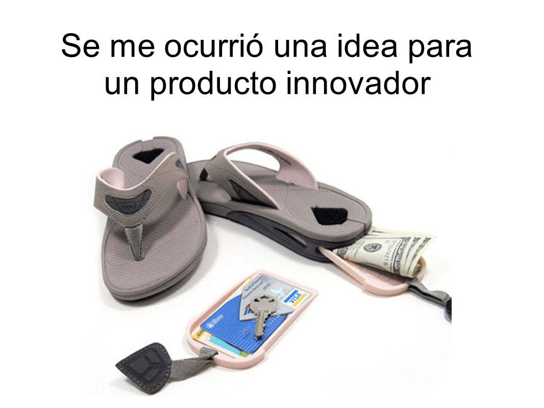 Se me ocurrió una idea para un producto innovador
