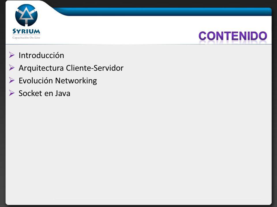 Contenido Introducción Arquitectura Cliente-Servidor