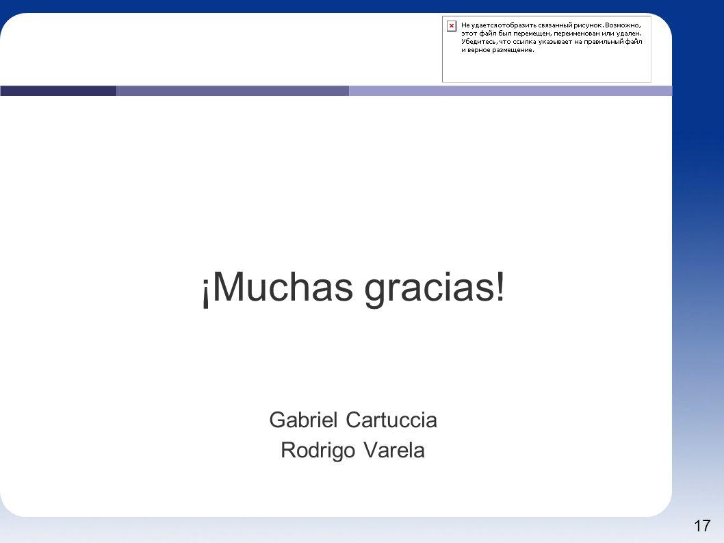 ¡Muchas gracias! Gabriel Cartuccia Rodrigo Varela