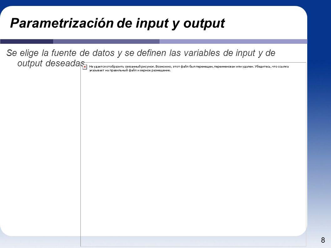 Parametrización de input y output