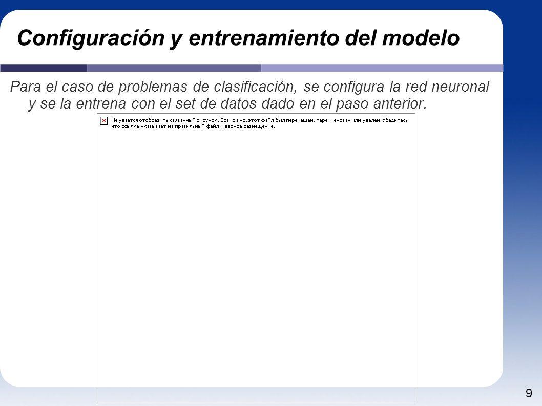 Configuración y entrenamiento del modelo