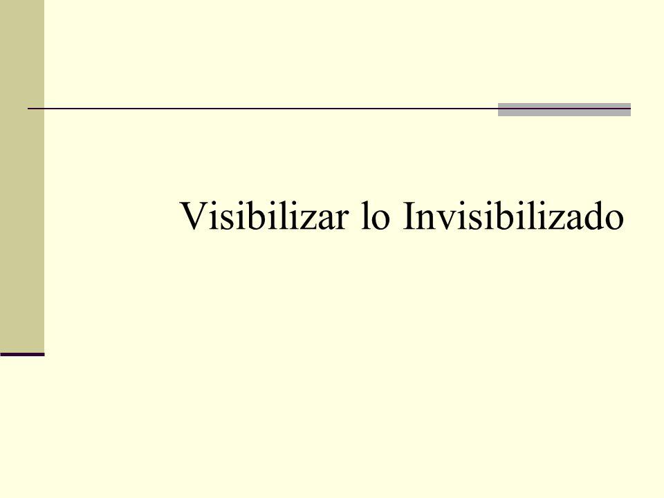 Visibilizar lo Invisibilizado