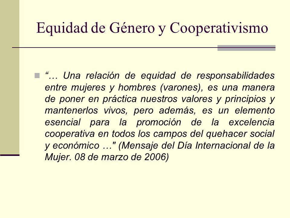 Equidad de Género y Cooperativismo