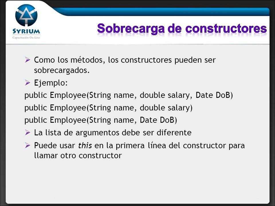 Sobrecarga de constructores