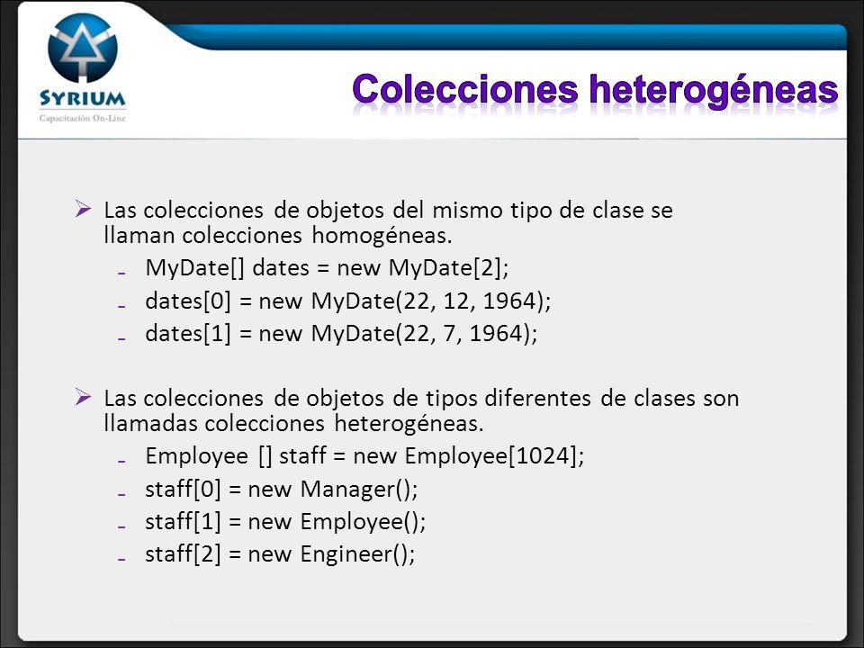 Colecciones heterogéneas