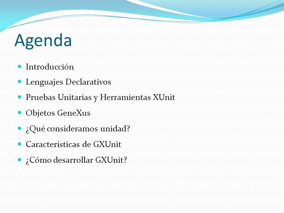 Agenda Introducción Lenguajes Declarativos