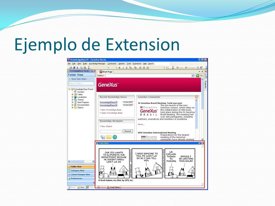 Ejemplo de Extension