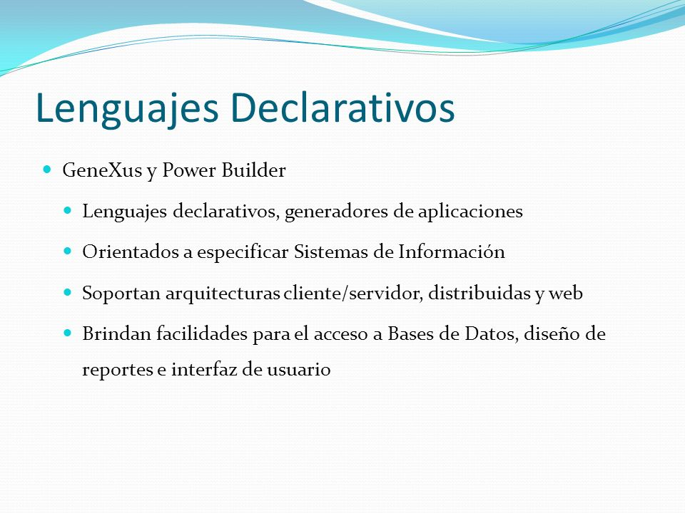Lenguajes Declarativos