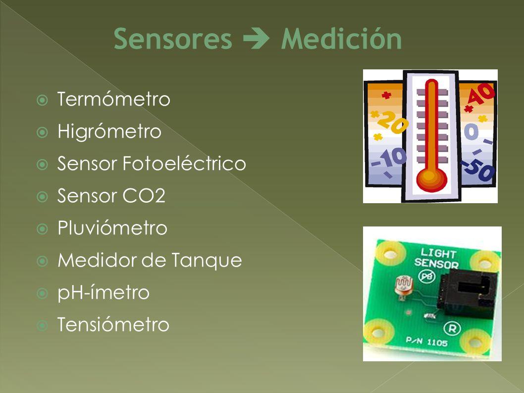 Sensores  Medición Termómetro Higrómetro Sensor Fotoeléctrico