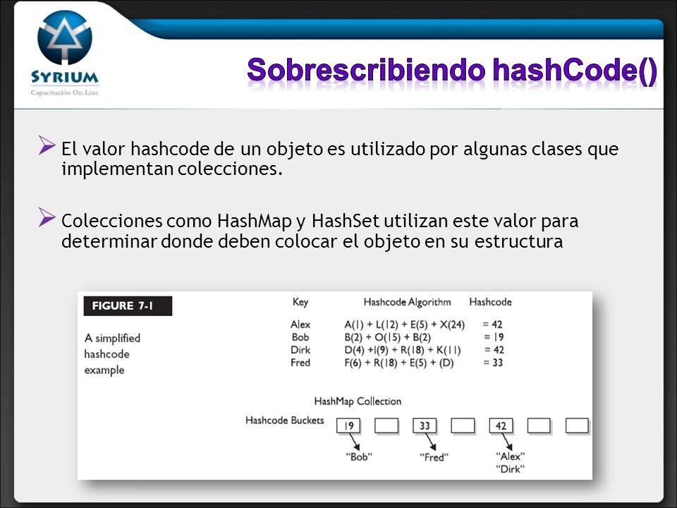 Sobrescribiendo hashCode()