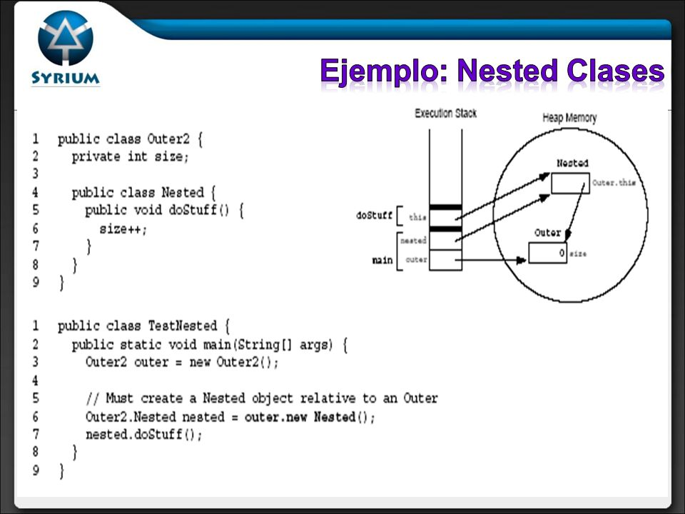 Ejemplo: Nested Clases