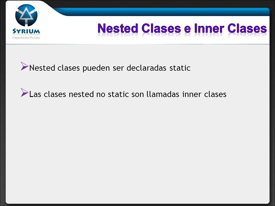 Nested Clases e Inner Clases