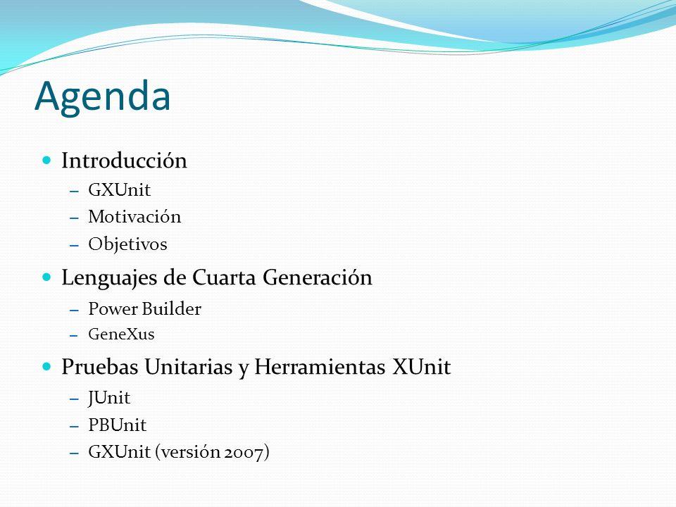 Agenda Introducción Lenguajes de Cuarta Generación