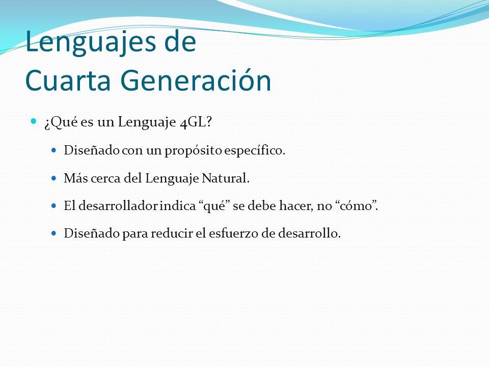Lenguajes de Cuarta Generación