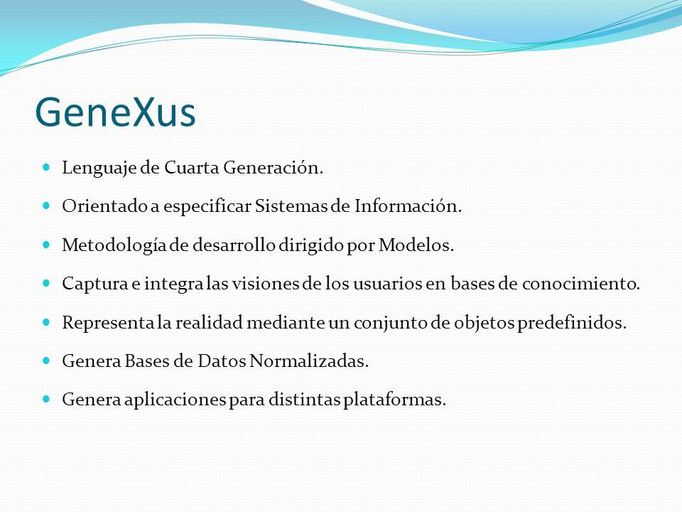 GeneXus Lenguaje de Cuarta Generación.
