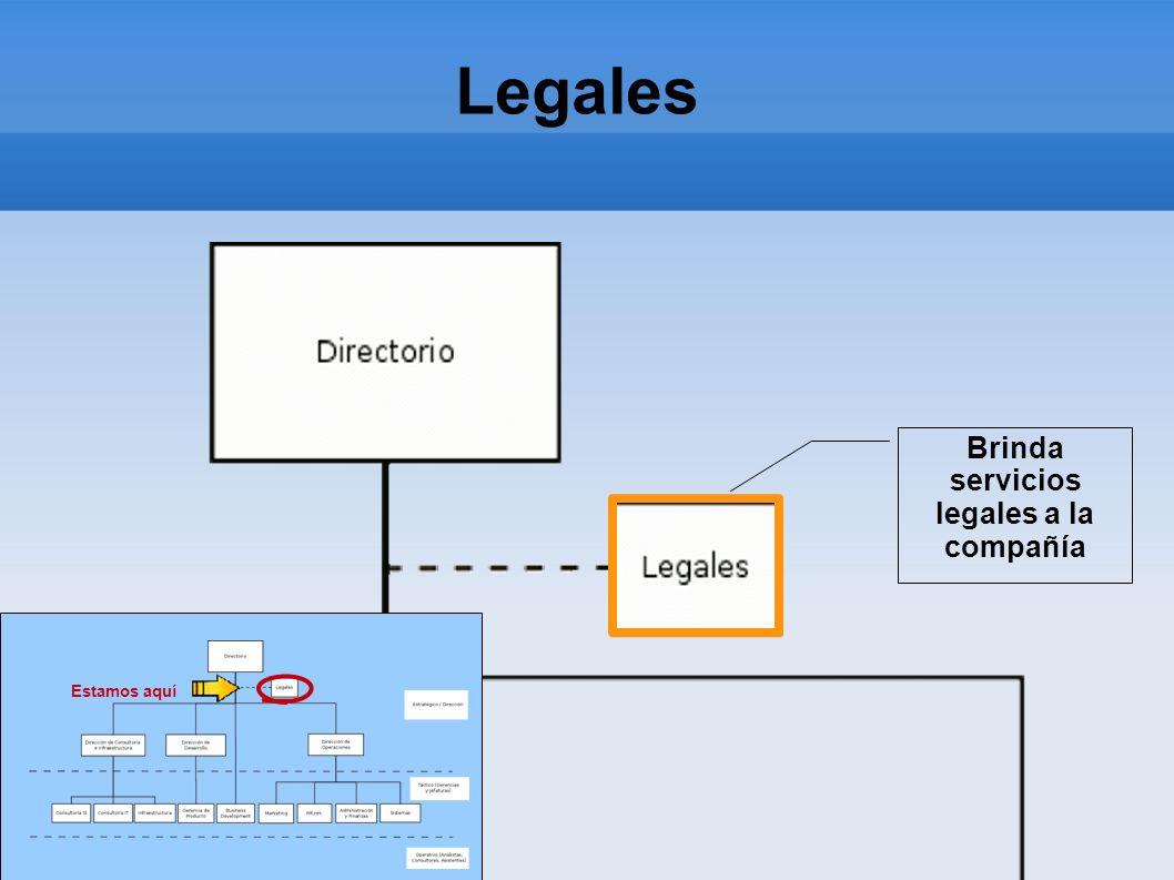Brinda servicios legales a la compañía