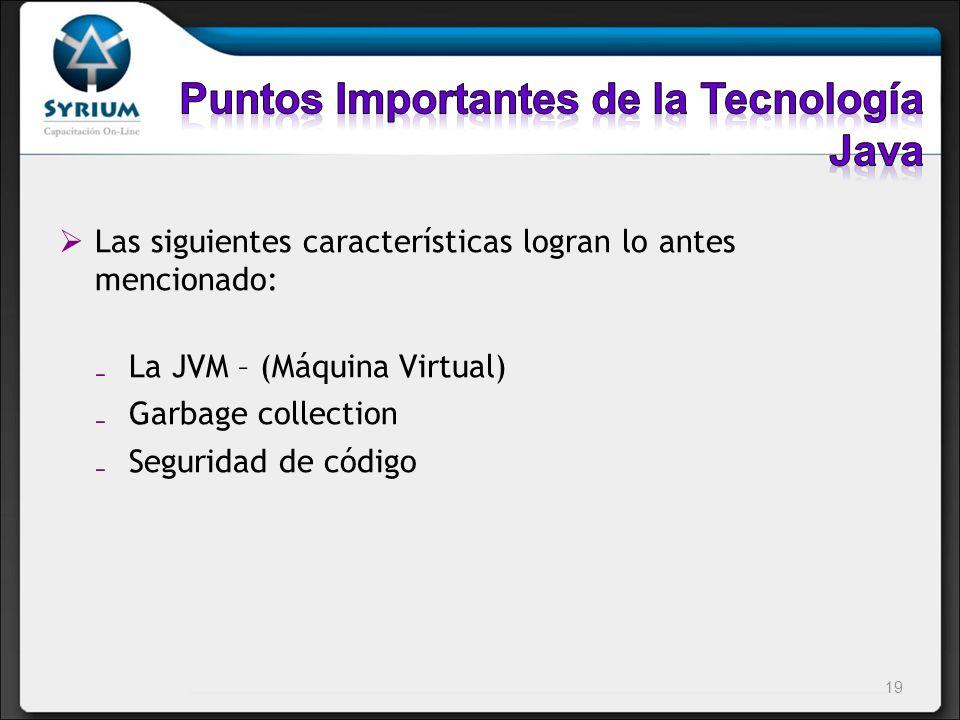 Puntos Importantes de la Tecnología Java
