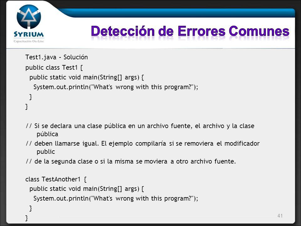 Detección de Errores Comunes