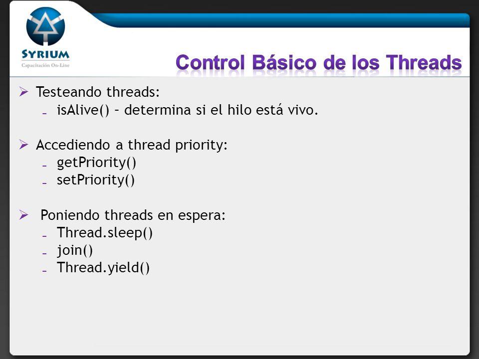 Control Básico de los Threads