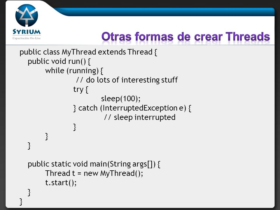 Otras formas de crear Threads