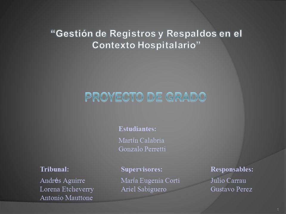 Gestión de Registros y Respaldos en el Contexto Hospitalario
