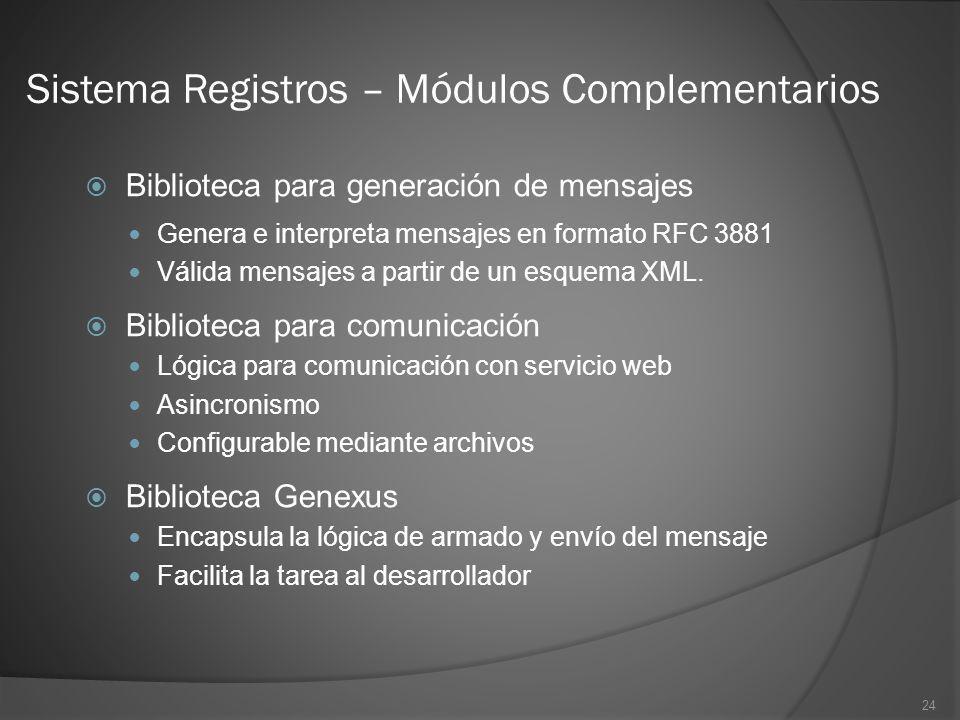Sistema Registros – Módulos Complementarios