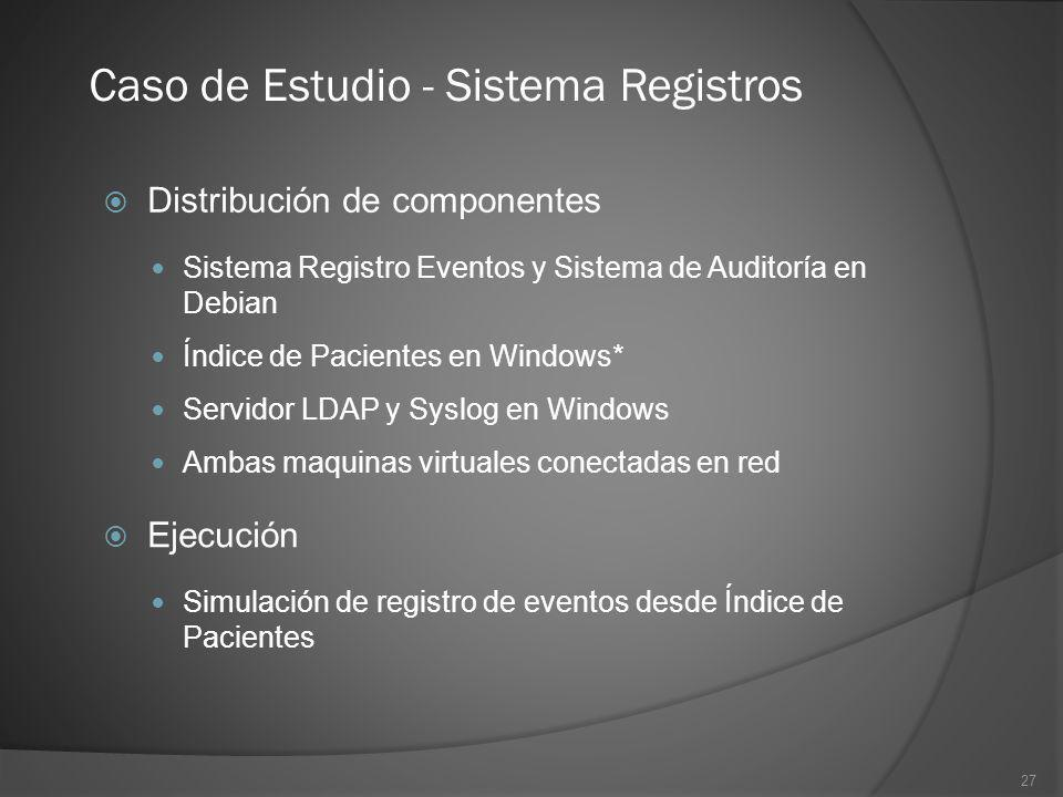 Caso de Estudio - Sistema Registros