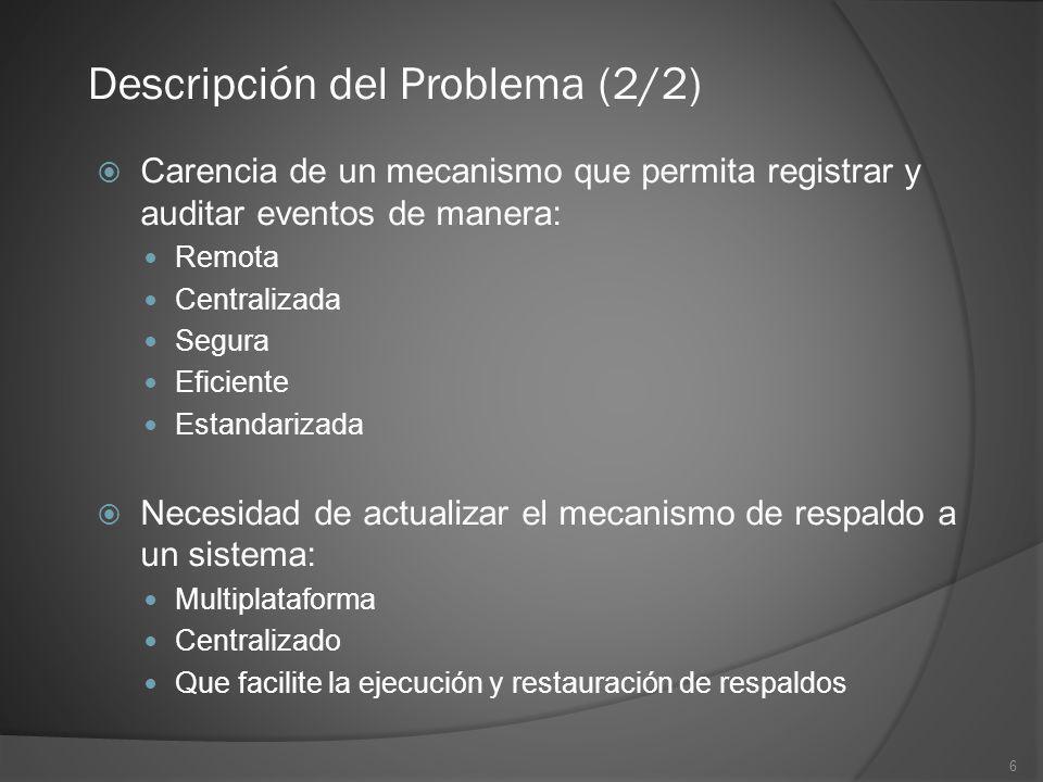 Descripción del Problema (2/2)
