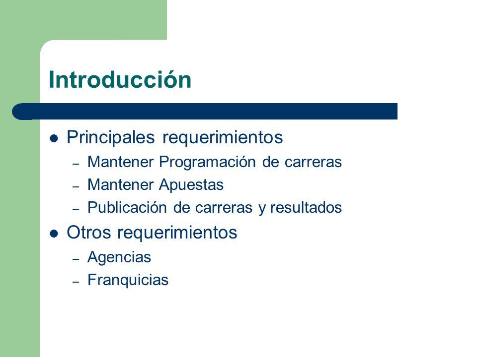 Introducción Principales requerimientos Otros requerimientos