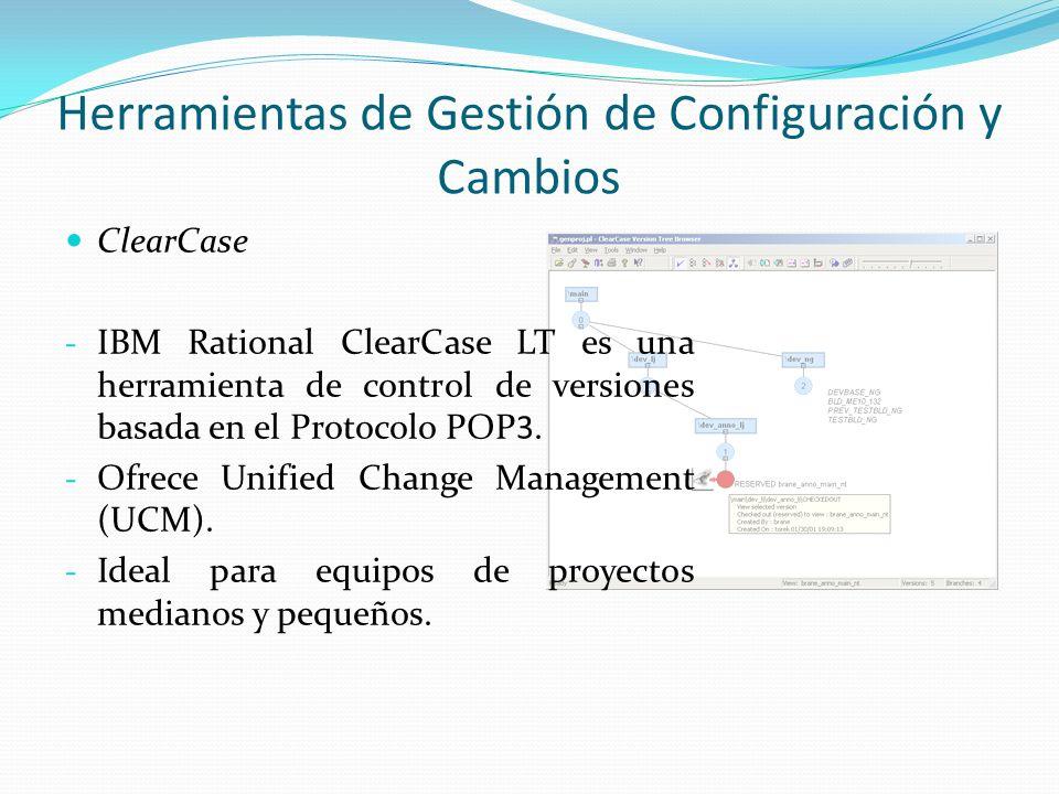Herramientas de Gestión de Configuración y Cambios