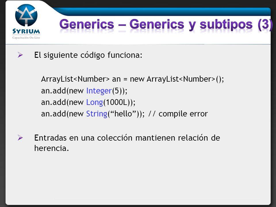 Generics – Generics y subtipos (3)