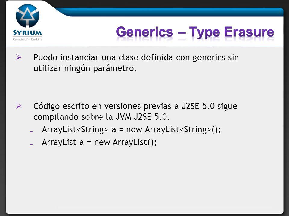 Generics – Type Erasure