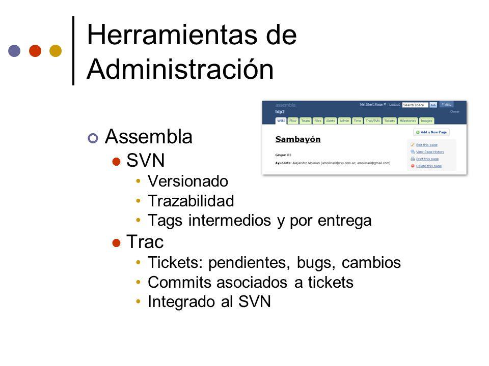 Herramientas de Administración
