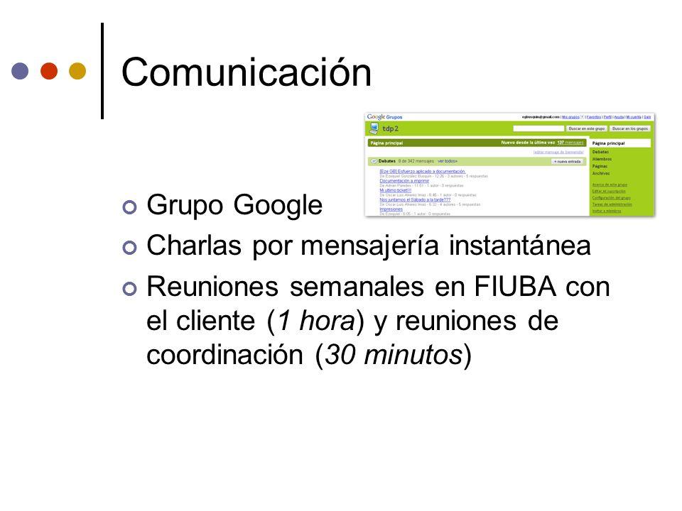 Comunicación Grupo Google Charlas por mensajería instantánea
