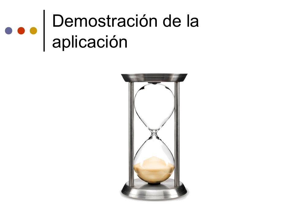 Demostración de la aplicación