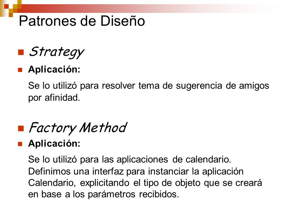 Patrones de Diseño Strategy Factory Method