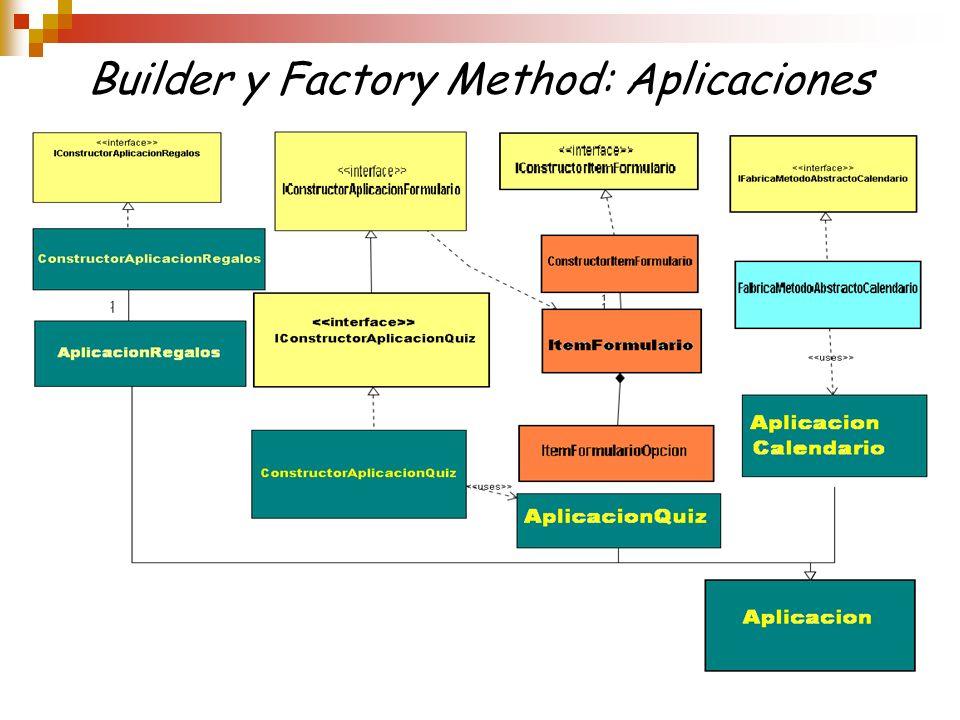 Builder y Factory Method: Aplicaciones