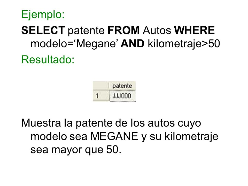 SELECT patente FROM Autos WHERE modelo='Megane' AND kilometraje>50