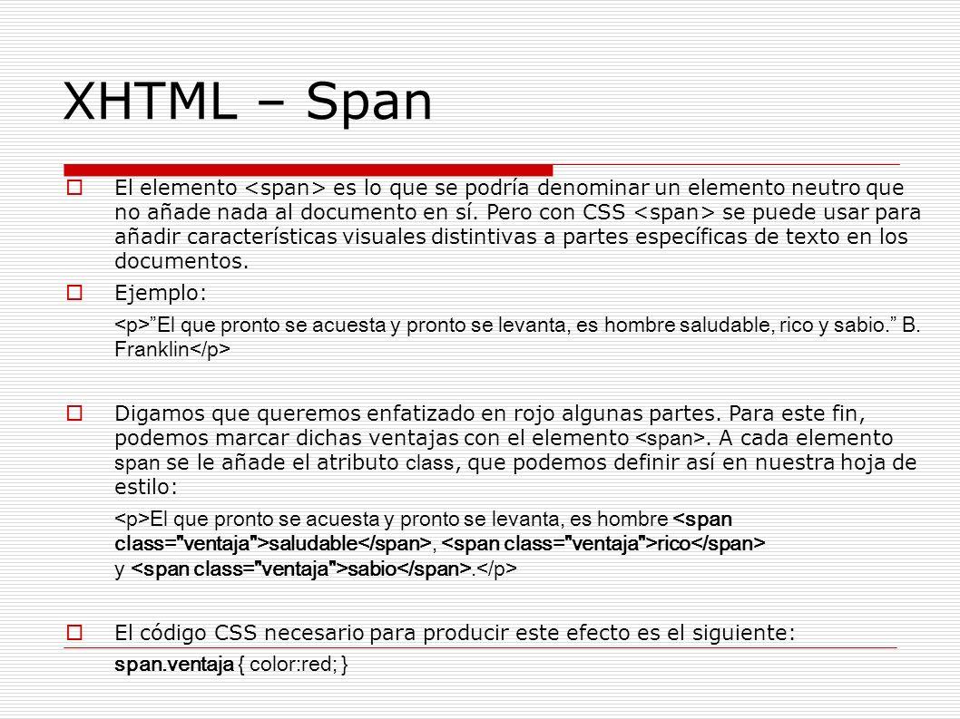 XHTML – Span