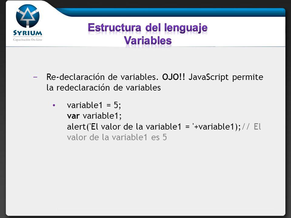 Estructura del lenguaje Variables